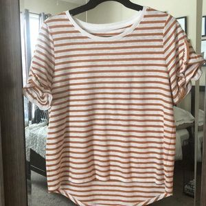 Tops - A New Day Striped Ruffle Sleeve Tee